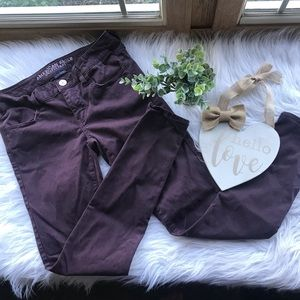 American Eagle Plum Low Rise Jegging Jeans 4R